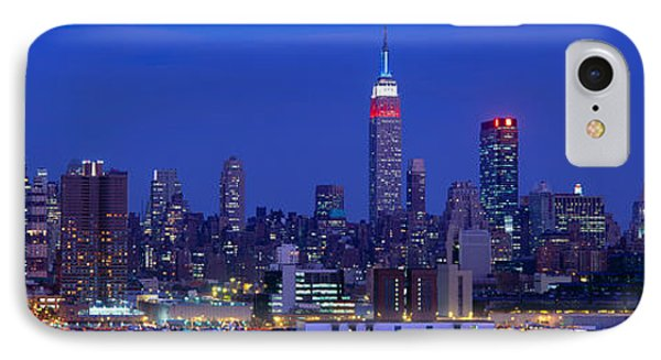Midtown Manhattan From Nj, Night, New IPhone Case by Panoramic Images