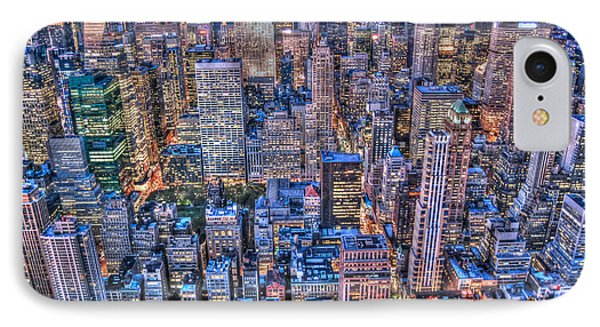 Midtown Manhattan Skyline Phone Case by Randy Aveille