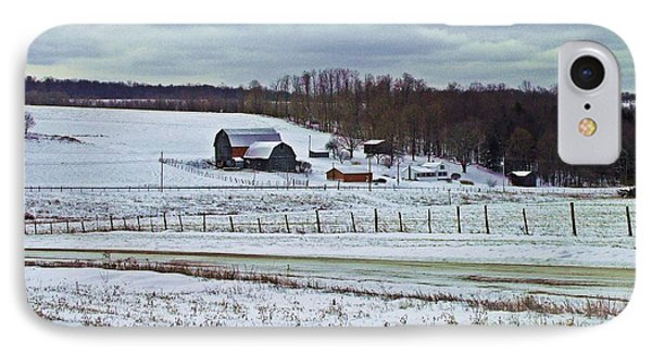 Midwinter On The Farm IPhone Case