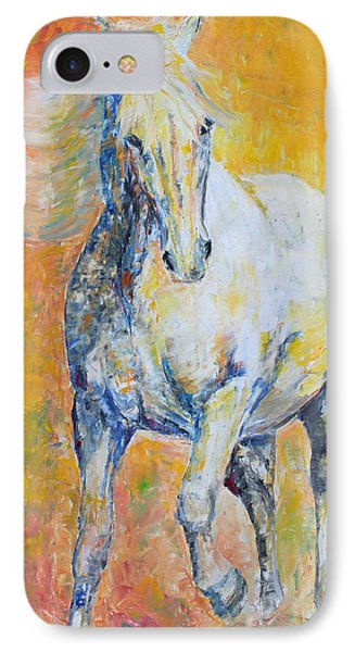 IPhone Case featuring the painting Mighty Mare by Jennifer Godshalk
