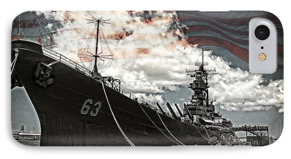 Mighty Mo U.s.s. Missouri IPhone Case by Ken Smith