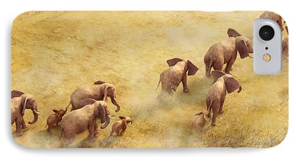 Migration Of Giants IPhone Case by Gary Hanna