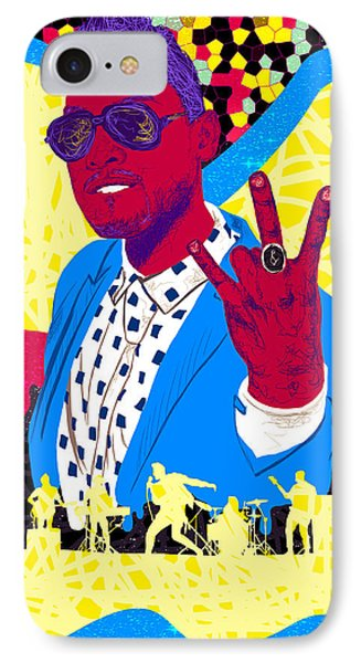 Miguel Drawing In Lines Phone Case by Kenal Louis