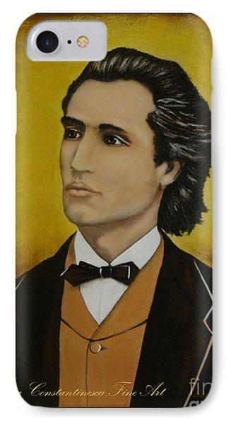 Mihai Eminescu  IPhone Case by Elena  Constantinescu