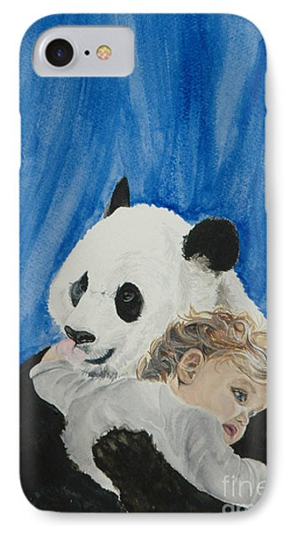 Mika And Panda IPhone Case by Tamir Barkan