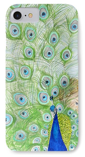 Mika And Peacock IPhone Case by Tamir Barkan