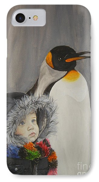 Mika And Penguin IPhone Case by Tamir Barkan