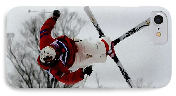 Mikael Kingsbury Skiing Phone Case by Lanjee Chee