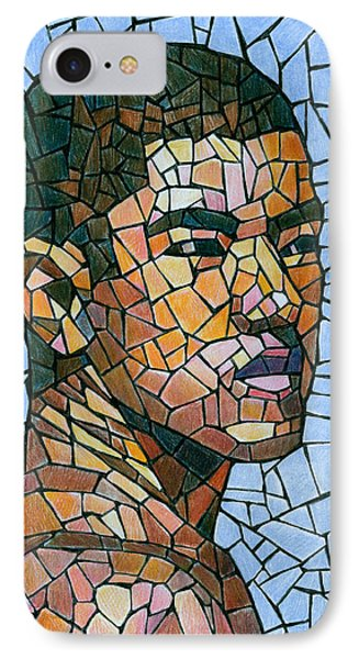 Mike In Mosaic IPhone Case by Douglas Simonson