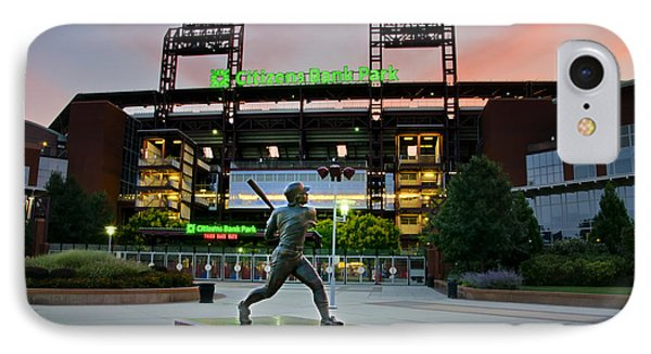 Mike Schmidt Statue At Dawn IPhone Case
