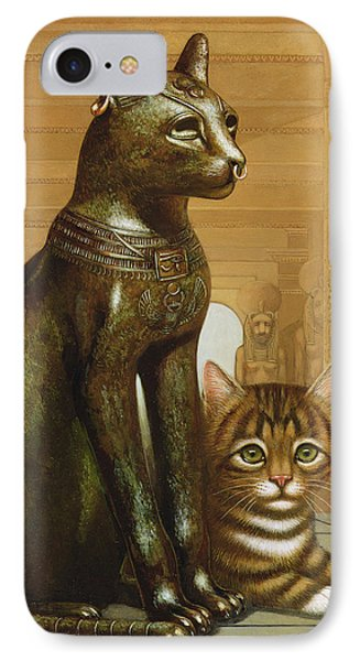 Mike The British Museum Kitten IPhone Case by Frances Broomfield