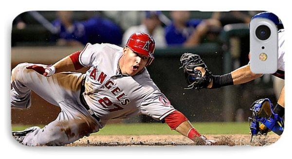 Mike Trout IPhone Case by Marvin Blaine