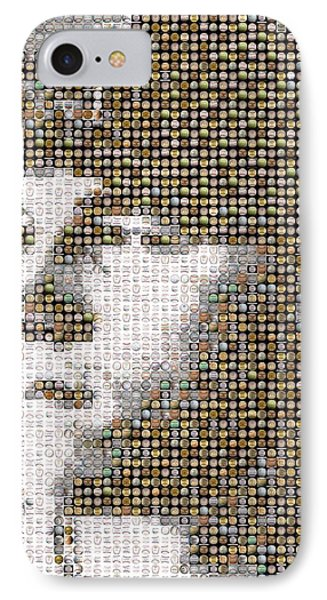 Mike Trout Mosaic Phone Case by Paul Van Scott