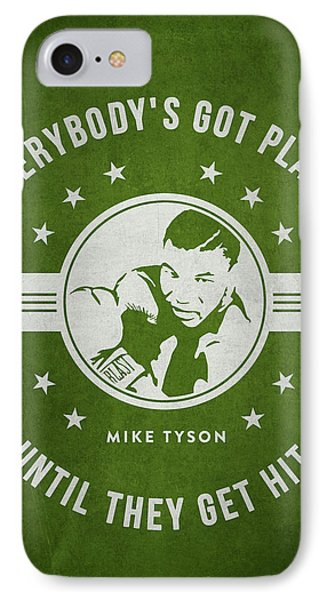Mike Tyson - Green IPhone Case by Aged Pixel