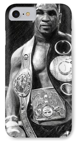Mike Tyson Pencil Drawing IPhone Case