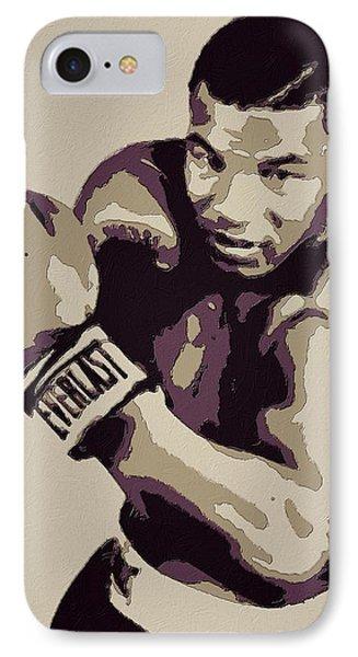 Mike Tyson Poster Art Phone Case by Florian Rodarte