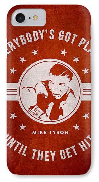 Mike Tyson - Red IPhone Case by Aged Pixel