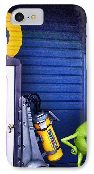 Mike With Boo's Door - Monsters Inc. In Disneyland Paris Phone Case by Marianna Mills