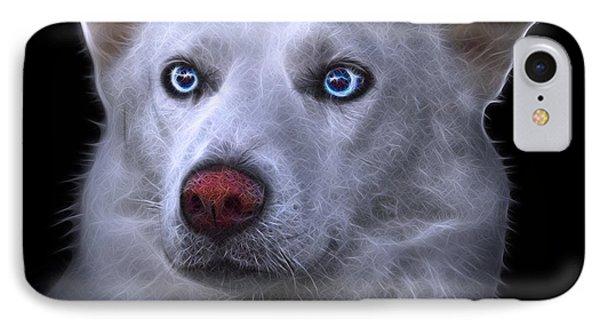 Mila - Siberian Husky - 2103 - Bb IPhone Case by James Ahn
