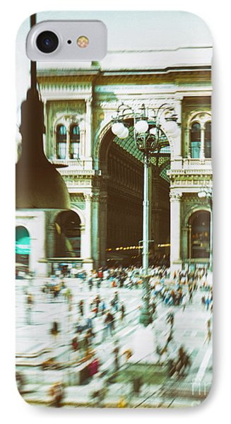 IPhone 7 Case featuring the photograph Milan Gallery by Silvia Ganora