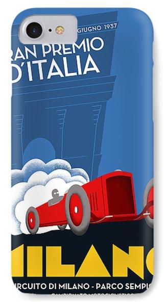 Milan Italy Grand Prix 1937 IPhone Case by Georgia Fowler