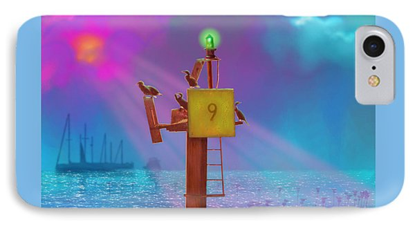 Mile Marker 9 Phone Case by Gerry Robins