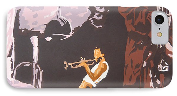 Miles Davis II Phone Case by Ronald Young