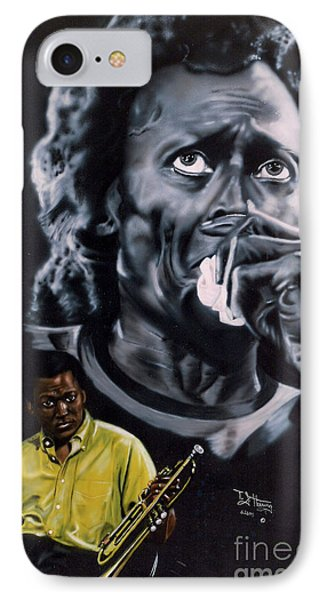 IPhone Case featuring the painting More Miles Of Davis by Thomas J Herring