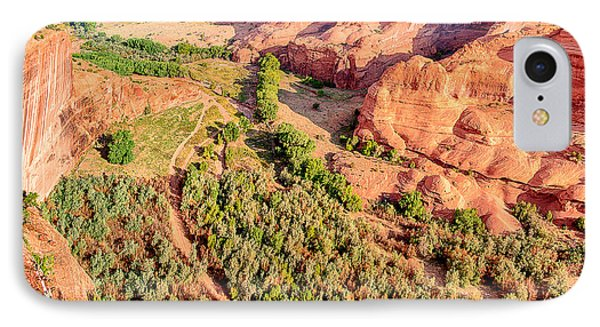 Miles To Go In Canyon De Chelly Phone Case by Bob and Nadine Johnston