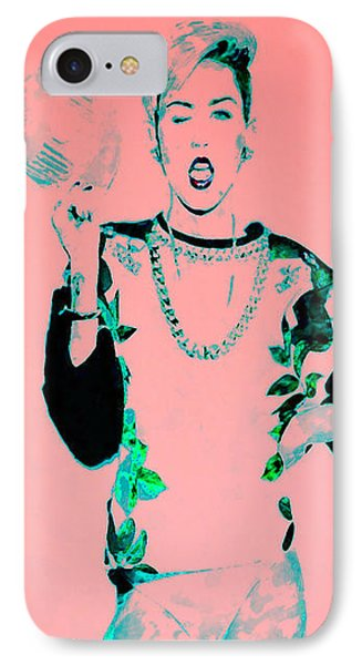 Miley 1 IPhone Case by Brian Reaves