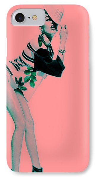 Miley 2 IPhone Case by Brian Reaves