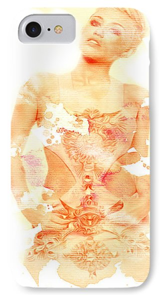 IPhone Case featuring the digital art Miley by Brian Reaves