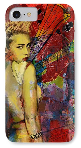Miley Cyrus IPhone Case by Corporate Art Task Force