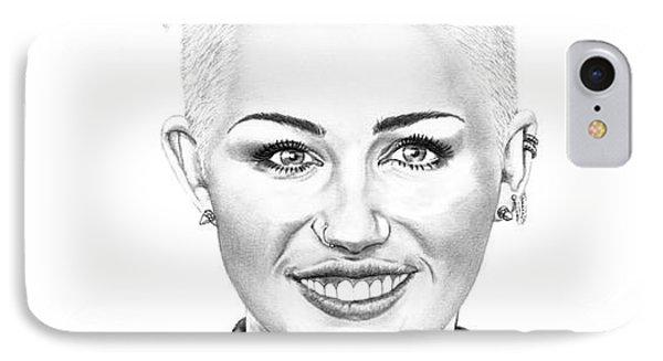 Miley Cyrus New Look IPhone Case by Murphy Elliott