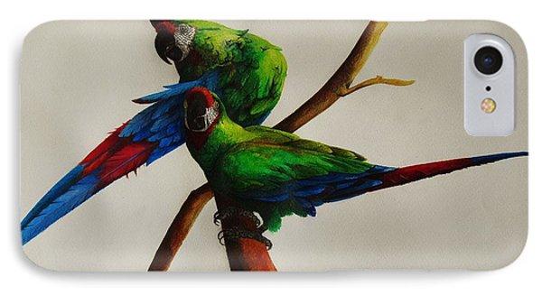 Military Macaws Phone Case by Dana Newman