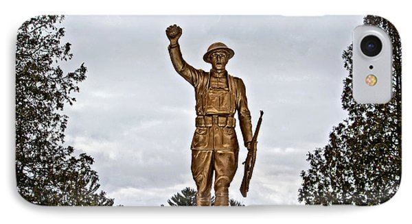 Military Soldier Memorial Phone Case by Ms Judi