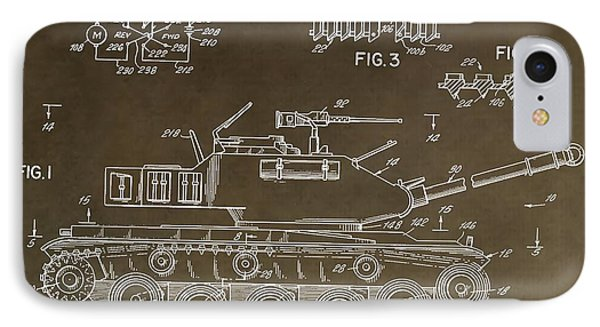 Military Tank Patent IPhone Case by Dan Sproul