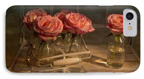 Milk Bottle Roses Phone Case by Ann Garrett