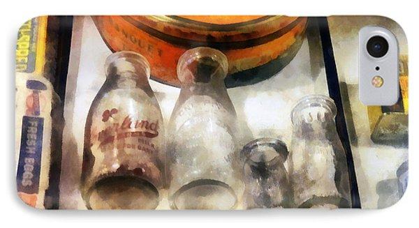 Milk Bottles In Dairy Case IPhone Case