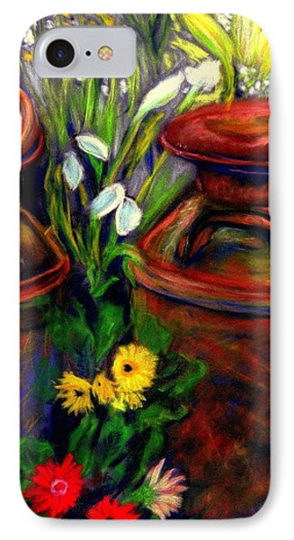 Milk Cans At Flower Show Sold IPhone Case by Antonia Citrino