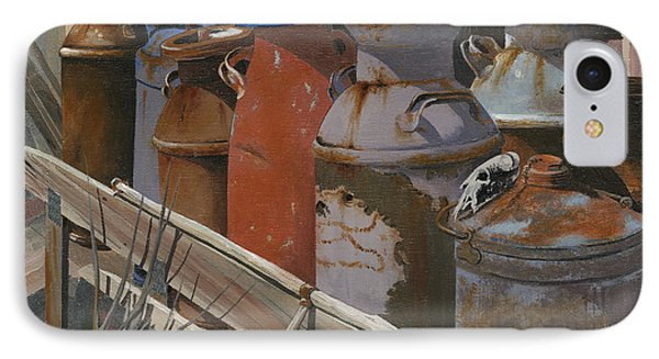 Milk Cans Phone Case by John Wyckoff