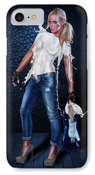 Milk Dress - Rockstar Girl IPhone Case