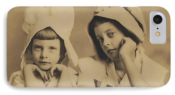 IPhone Case featuring the photograph Milkmaid Sisters by Paul Ashby Antique Image