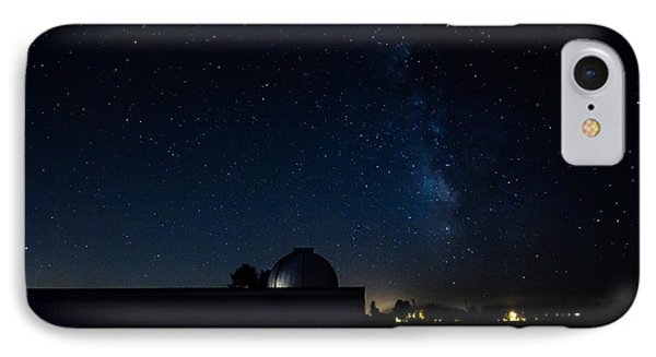 Milky Way And Observatory IPhone Case by Jay Stockhaus