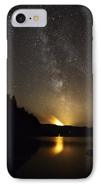 Milky Way At Crafnant 2 IPhone Case by Beverly Cash