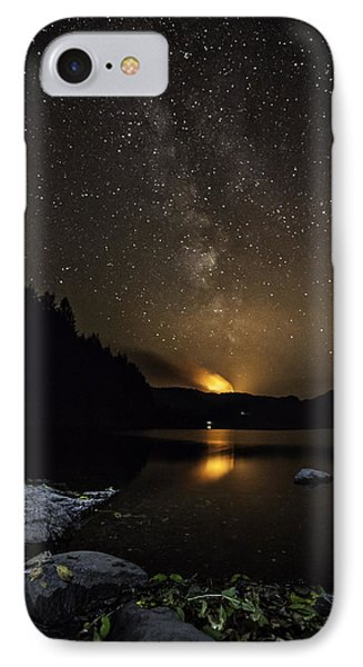 Milky Way At Crafnant IPhone Case by Beverly Cash