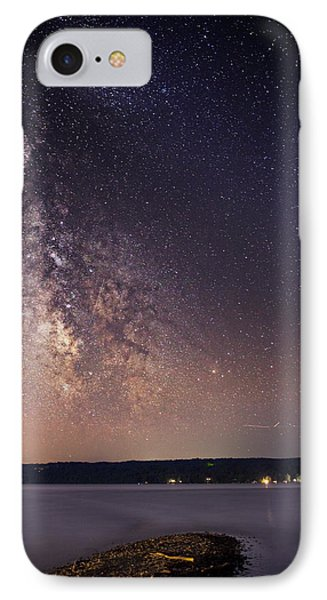 Milky Way On Cayuga Lake Ithaca New York IPhone Case by Paul Ge