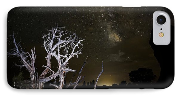 Milky Way Over Arches National Park Phone Case by Adam Romanowicz