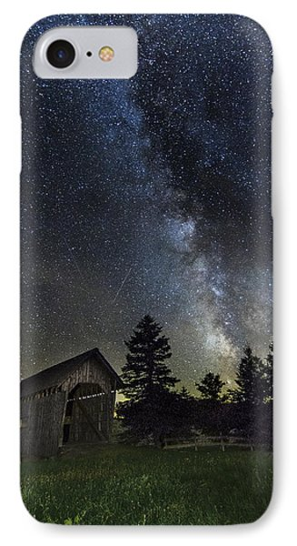 Milky Way Over Foster Covered Bridge IPhone Case by John Vose