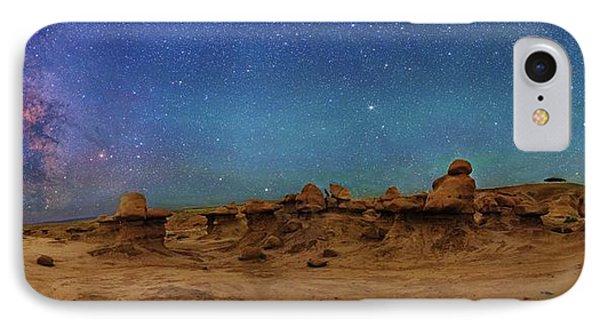Milky Way Over Goblin Valley IPhone Case